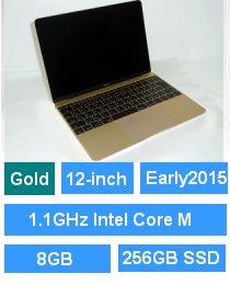 MacBook (Retina・12-inch・Early 2015) ゴールド プロセッサ:1.1GHz Intel CoreM/メモリ:8GB/ストレージ:256GB SSD (MK4M2J/A)