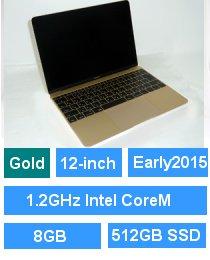 MacBook (Retina・12-inch・Early 2015) ゴールド プロセッサ:1.2GHz Intel CoreM/メモリ:8GB/ストレージ:512GB SSD (MK4N2J/A)